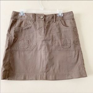 Ann Taylor | Mini Brown Skirt with Front Pockets